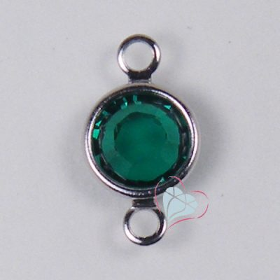 SWAROVSKI® Element Emerald Round Channel - 2 Loop