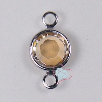 SWAROVSKI® Element Crystal Golden Shadow Round Channel - 2 Loop