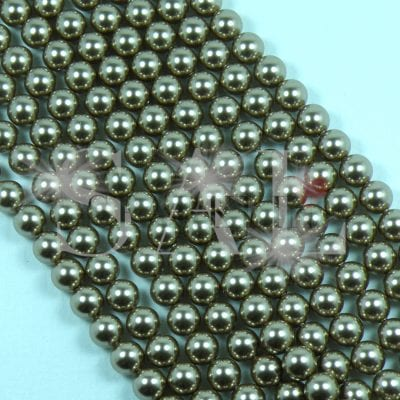SWAROVSKI® Element 6mm Bronze Round Drilled Pearl
