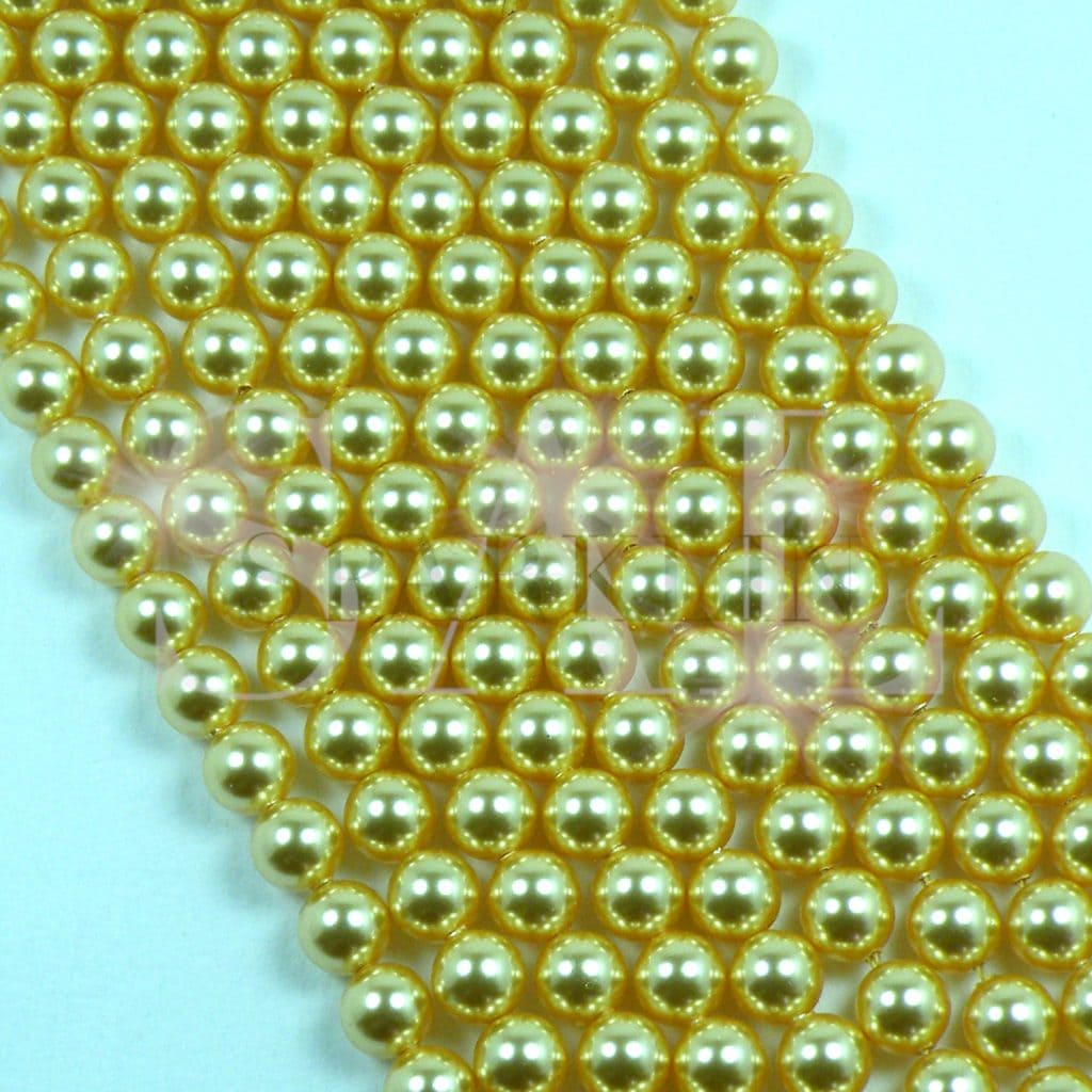 SWAROVSKI® Element 6mm Gold Round Drilled Pearl
