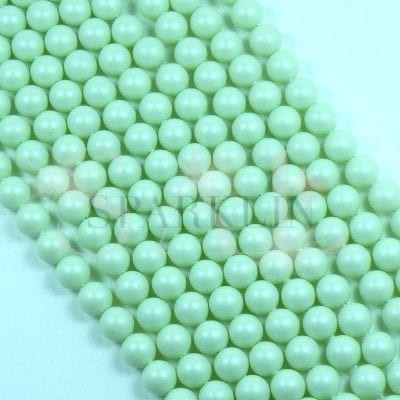 SWAROVSKI® Element 6mm Pastel Green Round Drilled Pearl